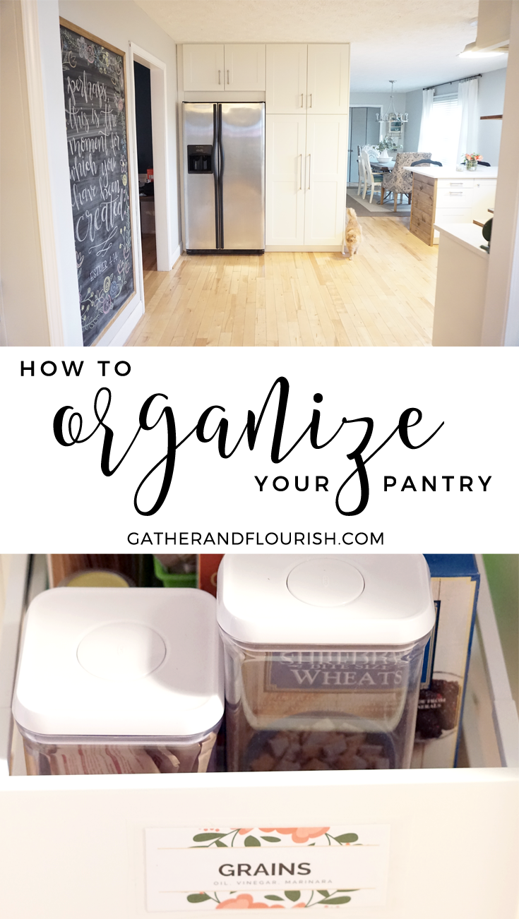 3 Steps to an organized pantry with Dahlias and Dimes