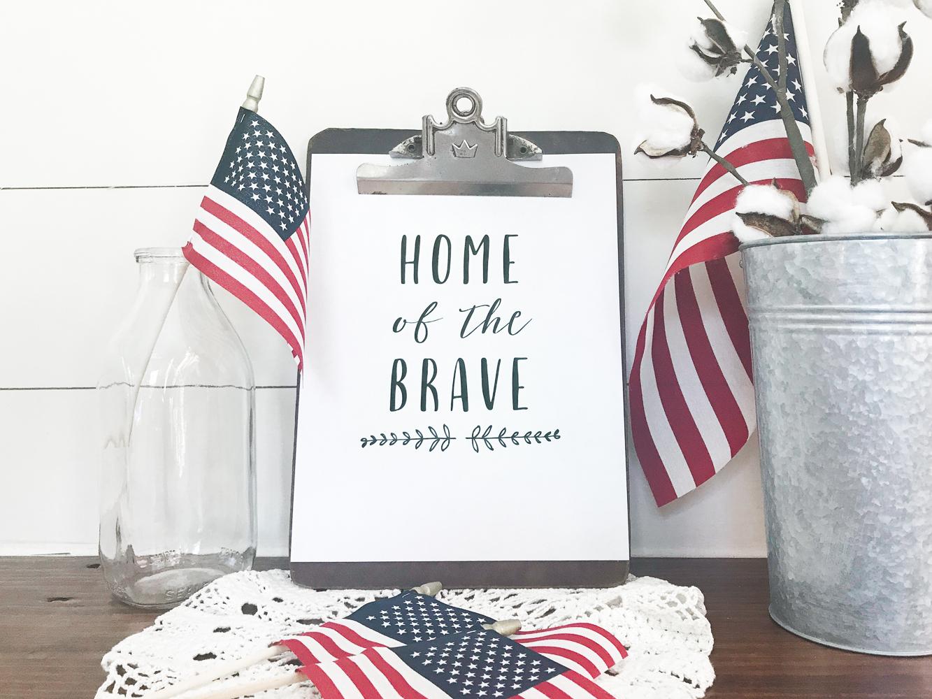 Free Land of the Free Patriotic Printable! FREE patriotic Fourth of July printable!