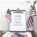 Land of the Free Patriotic Printable