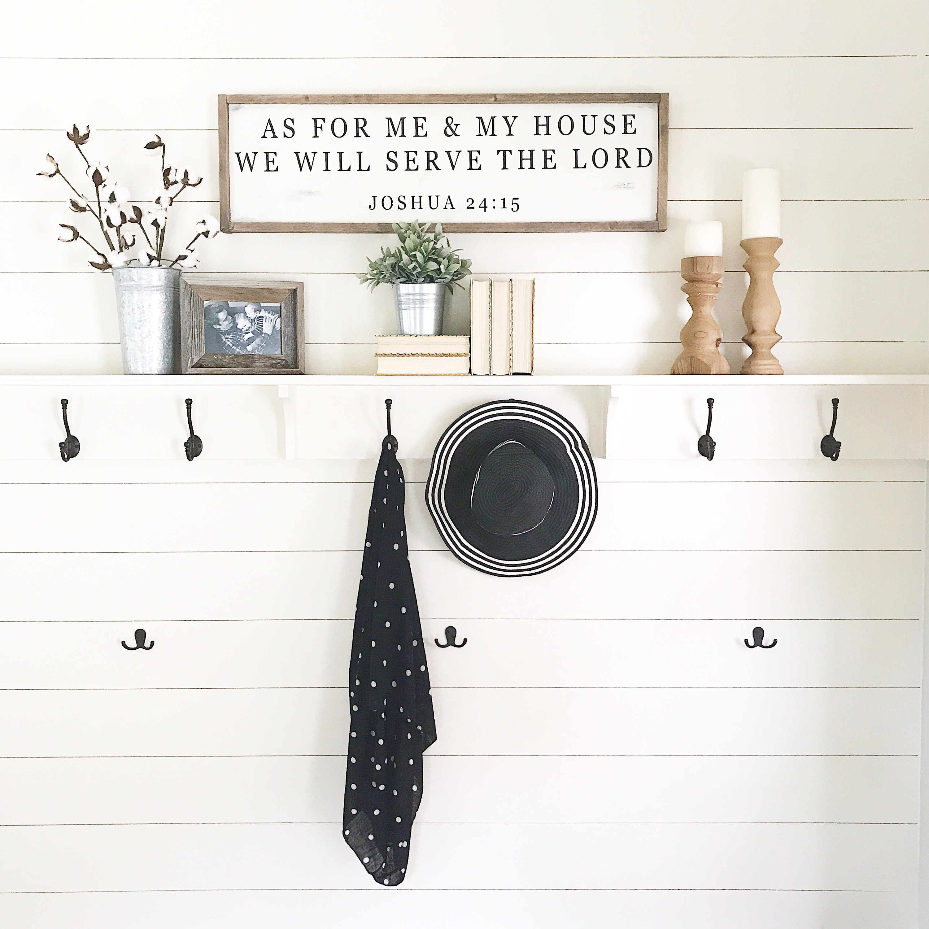 As For Me and My House Farmhouse Sign Tutorial
