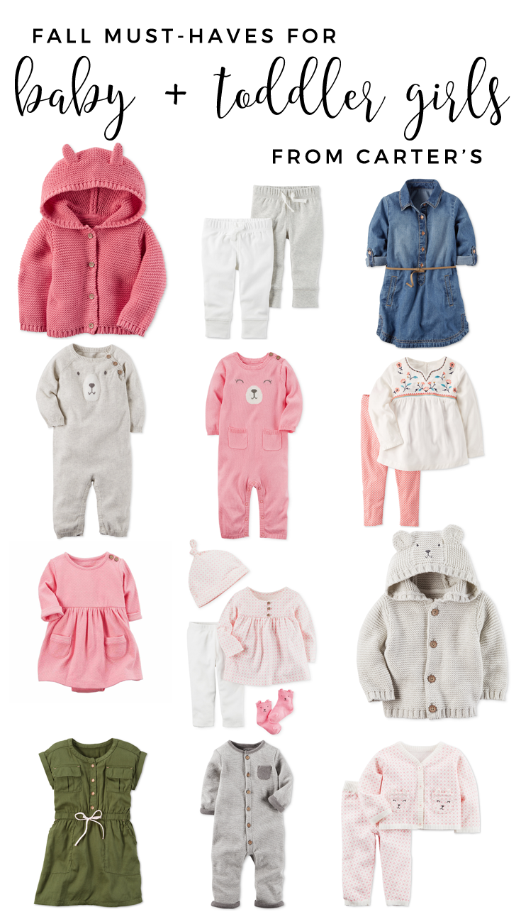 Fall Must-Haves From Carter's for baby and toddler! Baby boy fall outfit inspiration. Toddler boy fall outfit inspiration. Baby girl fall outfit must-haves. Toddler girl fall outfit must-haves.