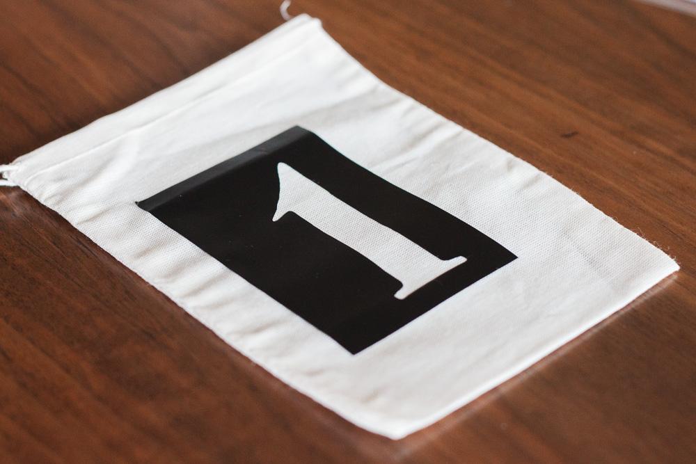 DIY Advent Calendar Bags! Easy Advent Calendar using muslin bags. FREE SVG stencil file included!