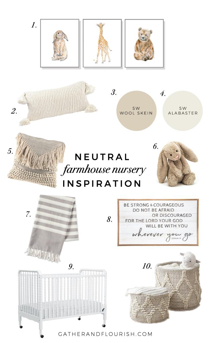 Neutral Farmhouse Nursery Inspiration