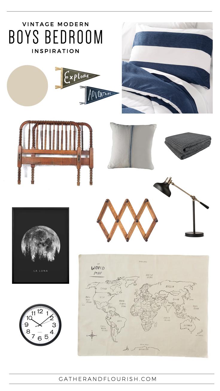 Vintage Modern Boys Bedroom Inspiration, Modern Boys Room, Boys Shared Bedroom, Shared Bedroom, Adventure Theme Bedroom, Explorer Theme Bedroom, Outdoorsy Theme Bedroom, Boys Bedroom, Vintage Theme Bedroom